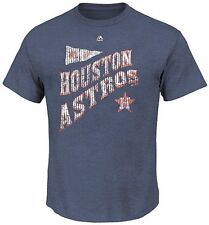Houston Astros Majestic At Our Place Men's Navy Heather T Shirt Big & Tall Sizes