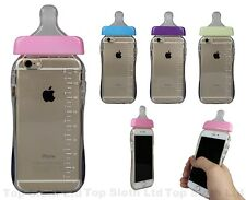 Baby Bottle TPU Hard Silicone Rubber New 3D Case Cover Skin For iPhone 5 6 Plus