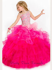 Gold Flower Girl Dresses Party Prom Dance Dress Formal Ball Gown Size 6 8 10 12