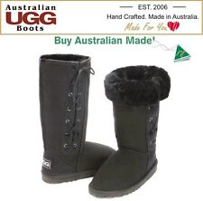 NEW 100% Australian Made, Tall Lace Up Sheepskin Ugg Boots. Any Colour-Any Size.