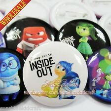 Inside Out Tin Buttons pins badges,30MM,Round Brooch Badge,Clothes Decoration