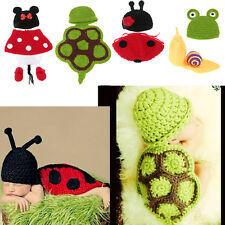 Baby Girls Boys Newborn Crochet Knit Costume Photo Photography Prop Hat Outfits