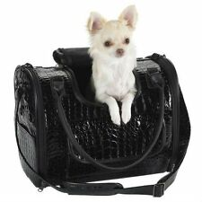 FAUX CROCODILE DOG PET CARRIER AIRLINE TOTE FOR PETS UP TO 12 LBS SHIPS FROM USA