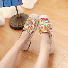 New Fashion Women Canvas Lace-up Casual Shoes Flats Sandals Sweet Shoes 2 Colors