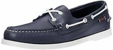 New NIB Sebago Docksides Navy Marine Mens Boat Shoe Wide Sizes B72722