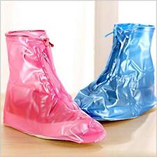 Men Women Unisex PVC Waterproof Tall Rain Shoes Non-slip Shoe Covers Boots Y2