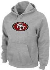 San Francisco 49ers Majestic Big Logo Pullover Hoodie Women's Gray Plus Sizes