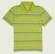Timberland Men's Short Sleeve Striped Rugby Yellow Polo Shirt Style #6852J