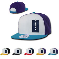 1 Dozen DECKY 3 Tone Flat Bill 6 Panel Snapback Cap Caps Hat Hats WHOLESALE LOT