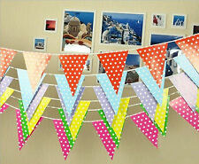 "98.4"" Dots Birthday Party Pennant Flag Banner Bunting Decoration New Arrival a"