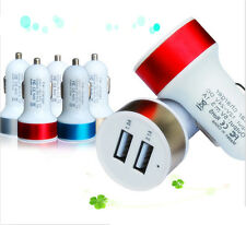 Car Charger Adaptor Bullet Dual USB 2-Port for iPod iPhone 5S 6 Samsung GALAXY