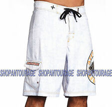 AFFLICTION Royal Chromatic 101BS099 Men`s New White Boardshorts
