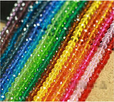 Wholesale 100Pcs New 20 Colors Rondelle Crystal Loose Beads 4mm Free Ship