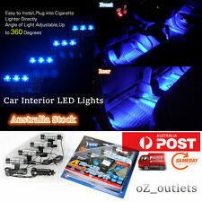 Car Interior Light Neon Decorative LED Lights Blue Kit Glow DC 12V Lamp Charger