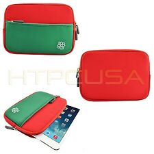 """Red/Green 7""""-8"""" Inch Christmas Color Sleeve Gift Universal Tablet Case Cover Bag"""