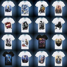 2015 League of Legends! Game characters patterned cotton T-shirt boys and girls