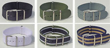 ★ NATO 22MM ★ Bracelet montre Nylon Watch Band Strap ★ OTAN ★ 6 COULEURS