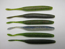"12 pcs salted soft baits Bass Perch Pike Lure Stick Shad Soft Worm 6""/12g"