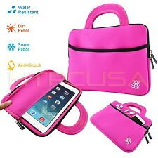 """KOZMICC Hot Pink 8.9"""" and 9"""" Inch Tablet Soft Bag w/ Handle Case Sleeve Cover"""