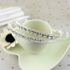 Hot Women Girl Lady Fashion Metal Crystal Headband Head Piece Hair Band Jewelry