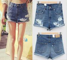 New Fashion Vintage Denim High Waist Jean Shorts Hot Pants