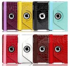 For iPad Mini 360-degree Swivel Rotate Luxury Crocodile Faux Leather Stand Case
