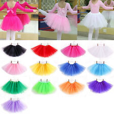 Girls Childrens Kids Dance Tutu Skirt Pettiskirt Ballet Dress Fancy Costume