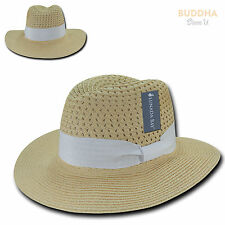 LUNADA BAY Paper Braid Sun Summer Beach Paper Straw for Women Hat Hats Wide Brim