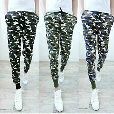 Camo Mens Harem Slacks Trousers Sweatpants Jogger Dance Sportwear Pencile Pants