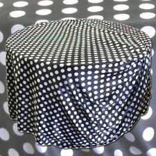 "5 POLKA DOT 120"" SATIN TABLECLOTHS 5ft TABLE MADE IN USA WEDDING PARTY EVENT"