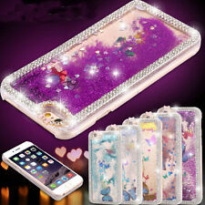 Bling Diamond Liquid Quicksand Thin Clear Case Cover Skin For iPhone 5 5S 6 Plus