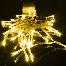 Yellow Battery Operated Fairy Lights String 10-50 LED Xmas Party Birthday 1-5m