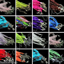 Wholesale 5/20pcs Mixed Lobster Clasp Organza Ribbon Cord Necklaces Jewelry 48cm