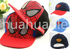 New Spider Man Superman Kids Boys Girls Adjustable Snapback Baseball Cap