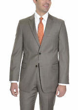 Tommy Hilfiger Trim Fit Brown Textured Two Button Wool Suit