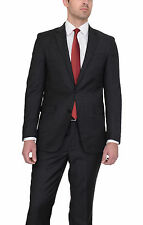 Kenneth Cole New York Slim Fit Grey Textured Two Button Wool Suit
