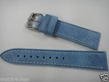 Vintage style HQ Genuine leather blue color strap.band.bracelet 20mm or 20mm~new