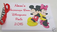 PERSONALISED MICKEY & MINNIE MOUSE AUTOGRAPH BOOK DISNEYLAND PARIS MEMORY BOOK