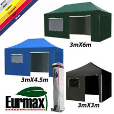 Eurmax New Pro EZ Pop up Gazebo Tent Commerical Marquee Shelter Heavy Duty 3Mx6M