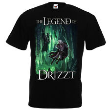 Drizzt Do'Urden T-Shirt Fruit of the Loom R.A Salvatore The Legend of Drizzt