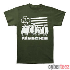 RAMMSTEIN Logo And Stripes T-Shirt New Authentic Industrial Metal Tee S-2XL