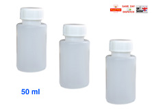 100ml 250ml 500ml PLASTIC BOTTLES HDPE WHITE SCREW CAP 28mm RESIN LATEX TRAVEL