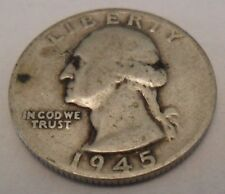 1945 S WASHINGTON QUARTER  *90% SILVER*   **FREE SHIPPING**