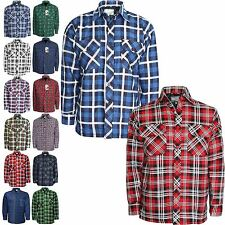 MENS CHECK LUMBERJACK PADDED SHIRT THICK QUILTED WARM WINTER WORK SHIRT M-3XL