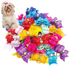 Wholesale Cute Handmade Dog Cat Hair Bows Grooming Accessories 20pcs for Girl