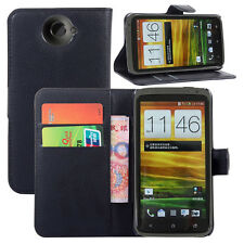Flip Card Wallet PU Leather Case Stand Cover Skin Holder For HTC One X S720e G23