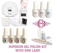 LED  Nail Gel polish curing kit starter set - includes Harmony Gelish Products