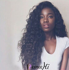100% Brazilian Human Hair Charming Curly Full Lace Front Lace Wig with baby hair