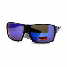 Mens Xloop Sunglasses Sports Square Frame Multicolor Mirror Lens