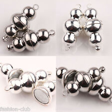 Hot Selling 5/10Pcs Magnetic Beads Clasps Connectors 24x10mm Jewelry Makings DIY